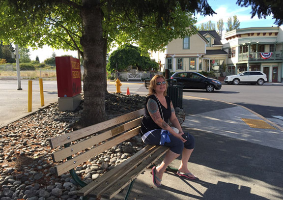 Bench for Town Art Project - Peggy Sue McRae Photo
