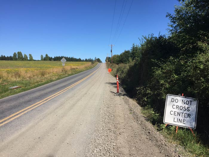 A Section of San Juan Valley Road where the water line has been laid but the road still needs to be finished - SJ Update photo