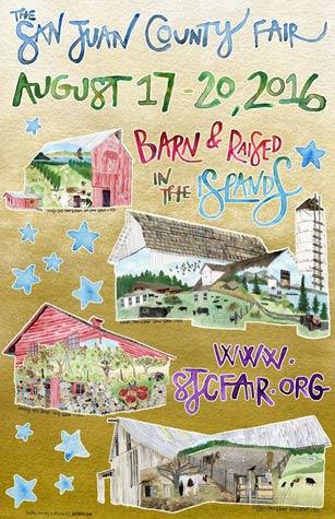 2016 San Juan County Fair Poster art by Jill Bliss