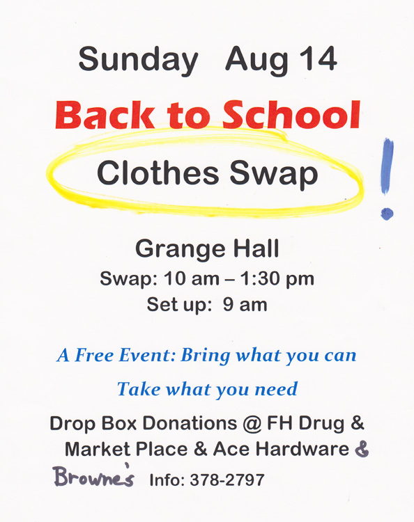 Back to school clothing swap