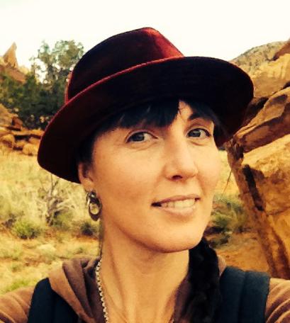 Rosa Blair at Ghost Ranch in New Mexico - Photo Rosa Blair