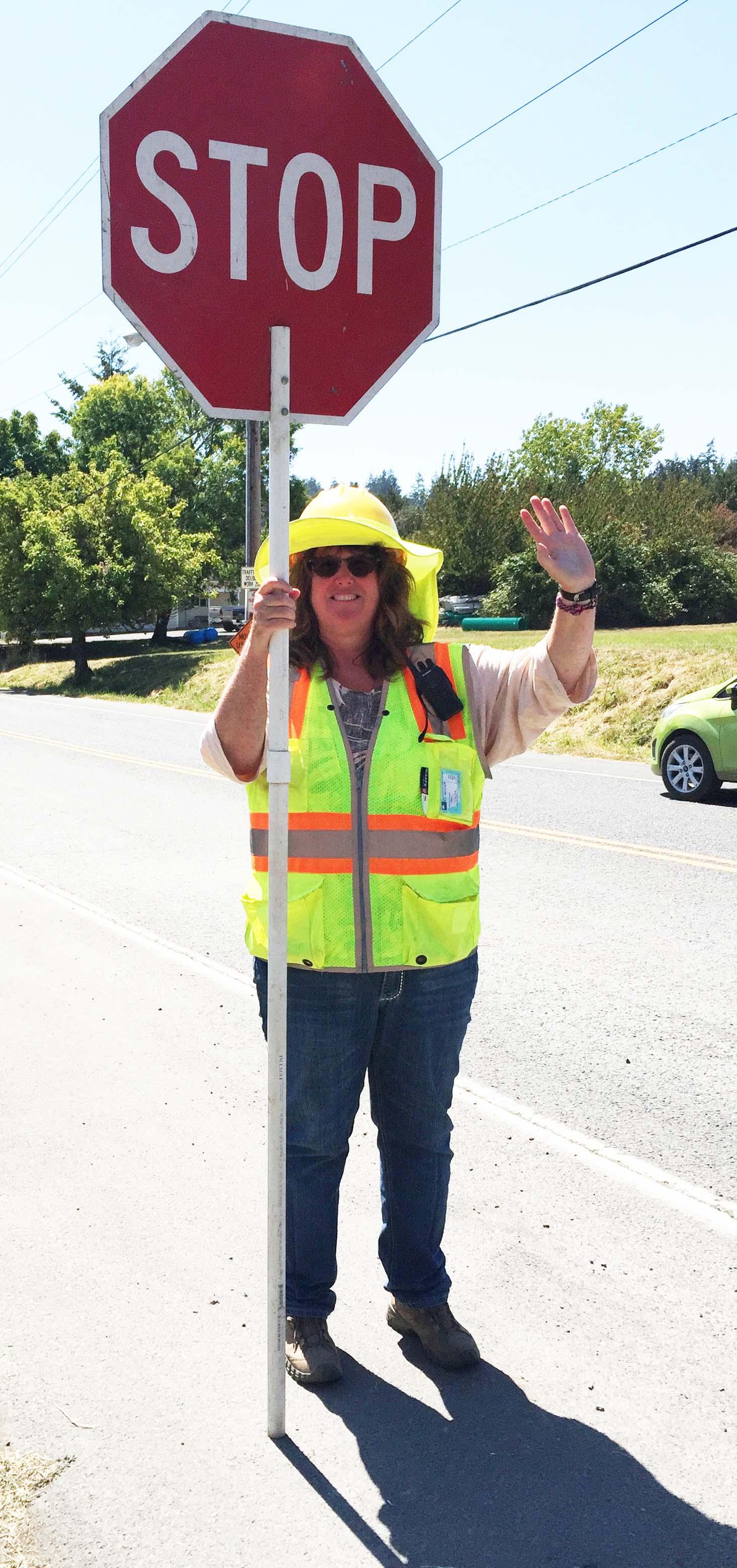 Flagger Vicki Hebert - Peggy Sue McRae Photo