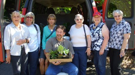 Members of the San Juan Island Garden Club at the FallAbundance Plant Sale - Contributed photo