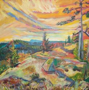 Mt. Grant /plein air painting