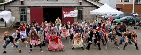 This was the scene last year at Brickworks as Zombies overtook the plaza - Contributed photo