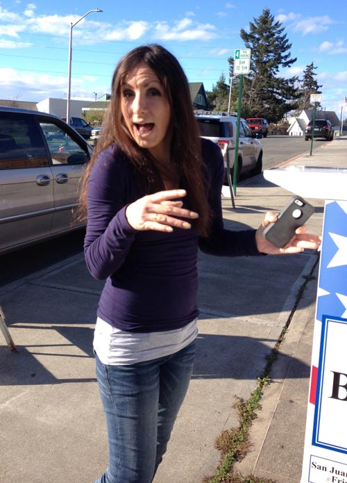 First-time voter -Louise Dustrude photo