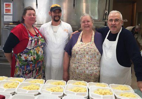 Mullis Center Kitchen Crew Callie Daniel McKay, Ben Spaulding, Carolyn Adler, Eugene Cuomo - Photo Peggy Sue McRae