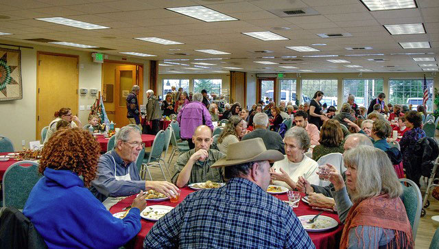 Diners enjoy a feast at the Community Thanksgiving Dinner - Contributed photo