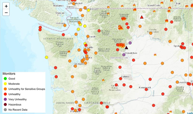 Air Quality Affected By Wildfire Smoke San Juan Island Update