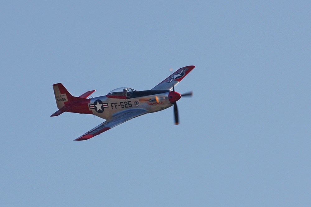 P-51D Mustang fly by - Photo by Marie DiCristina - Click for slideshow